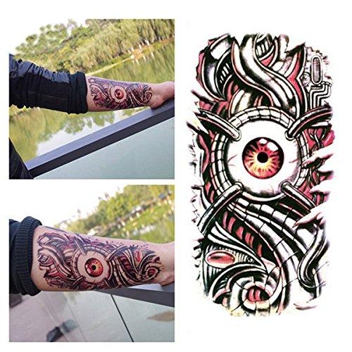 Temporary Tattoos - Body Tattoos Flash Metallic Temporary Coachella Metalic Gold - 3d Big Mechanical Eye Designed Tattoo Sticker Waterproof Large Decal Paster - Metallic Temporary Tattoos - - News Sunglasses