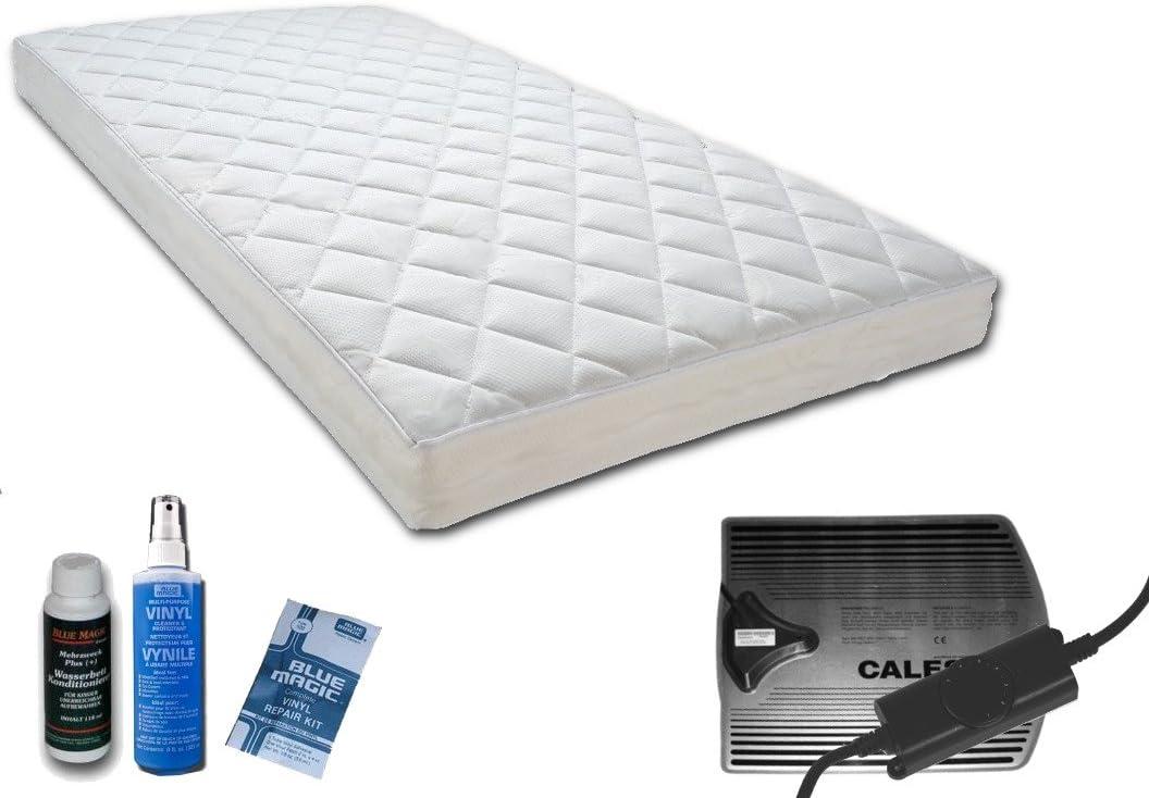 Para cama de agua colchón de agua para el somier de láminas móvil de barco de entrepiso cama doble, 90 x 200 cm