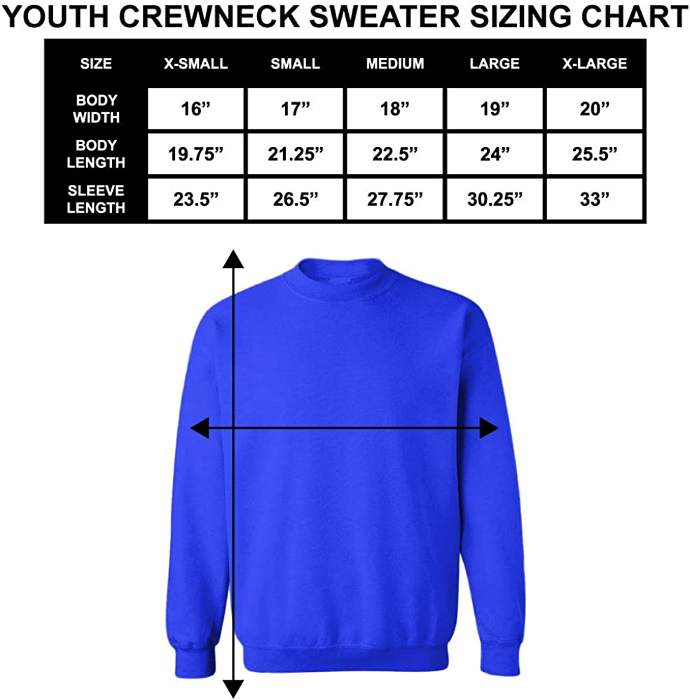Pink, Medium Back to School Youth Fleece Crewneck Sweater Im Ready to Crush 2nd Grade