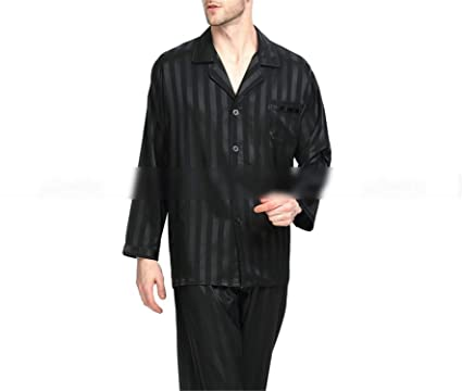 Thadensama Mens Silk Satin Pajamas Set Pajama Pyjamas Set Pjs Sleepwear Set  Loungewear S 1e10156ef