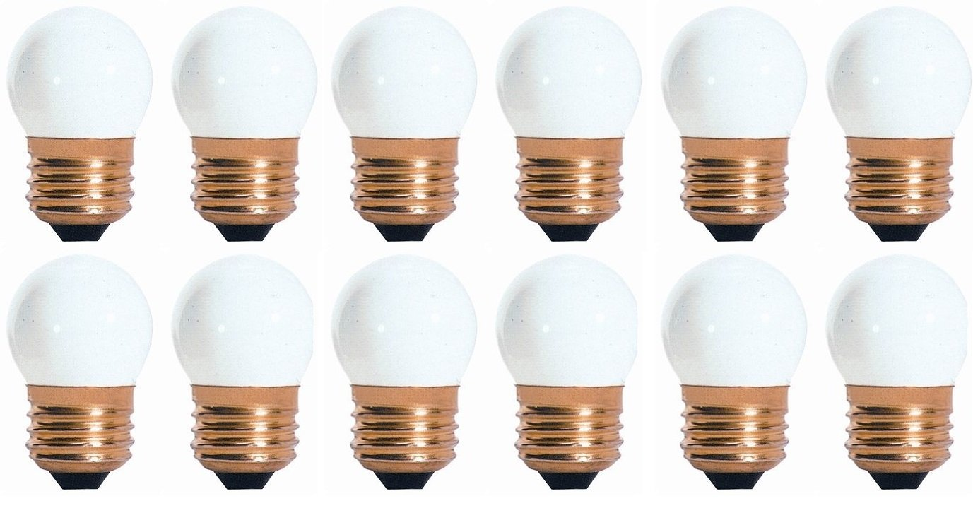 50 Pack 7.5 Watt S11 Medium Base 130 Volt 2500 Hour Ceramic White Sign or Indicator Light Bulb by Bulbrite (Image #1)
