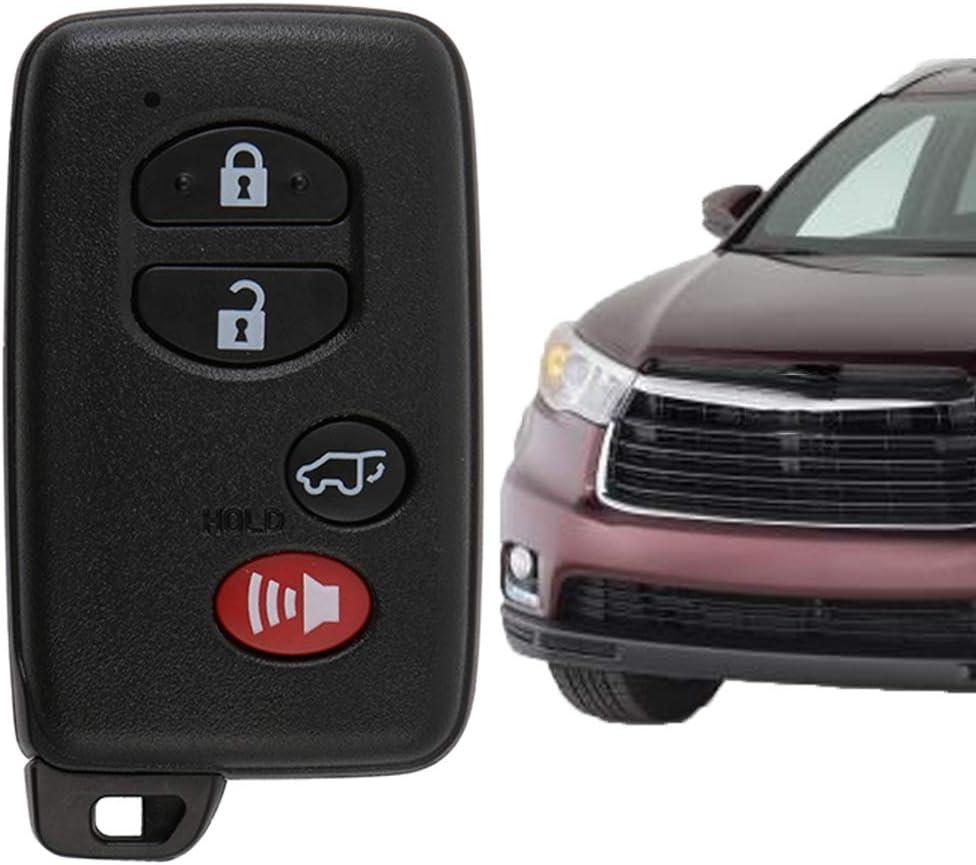 FCC ID: HYQ14AAB, P//N: 1551A-14AAB, 271451-0140, 89904-48110 VOFONO Fit for OEM 2008-2013 Toyota Highlander Flip Key Fob Keyless Entry Remote 0140