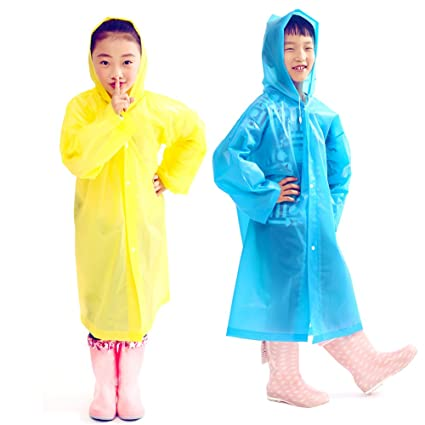 Raincoats 2019 Fashion Waterproof Kids Long Hooded Rainsuit Outdoor Activities Supplies Thick Jacket Cover Childrens Thick Raincoat Poncho