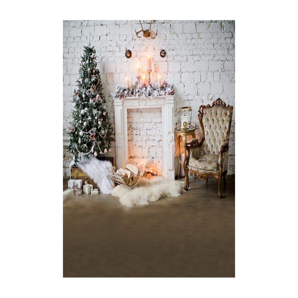 Background Decoration,Christmas Backdrops Decoration 3D Sticker Photography Studio Background (C)