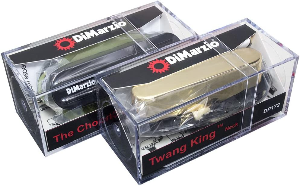 DiMarzio The Chopper T & Twang King pickup set for Telecaster, Black & Gold
