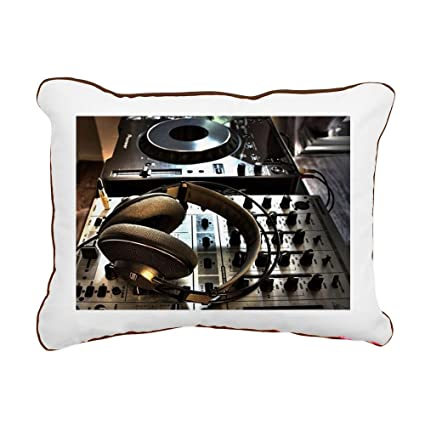 "CafePress - Musica Cascos - 12""x15"" Canvas Pillow, Throw Pillow, ..."