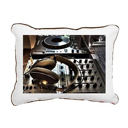 """CafePress - Musica Cascos - 12""""x15"""" Canvas Pillow, Throw Pillow, ..."""