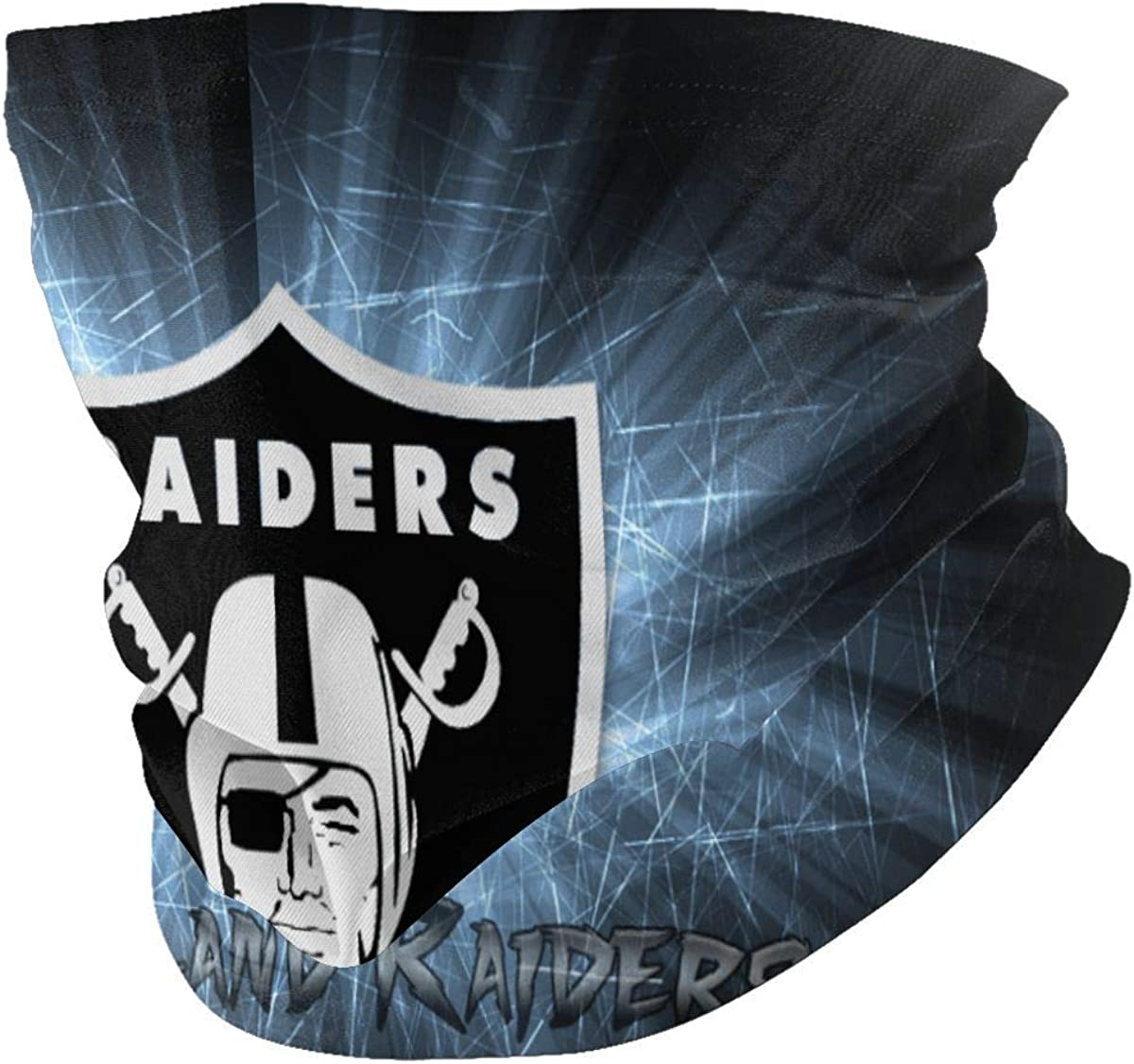 Oakland-Raiders Neck Gaiter Breathable Fishing Running Cycling Head Scarf Ski face Nose Covers for Men Women Black