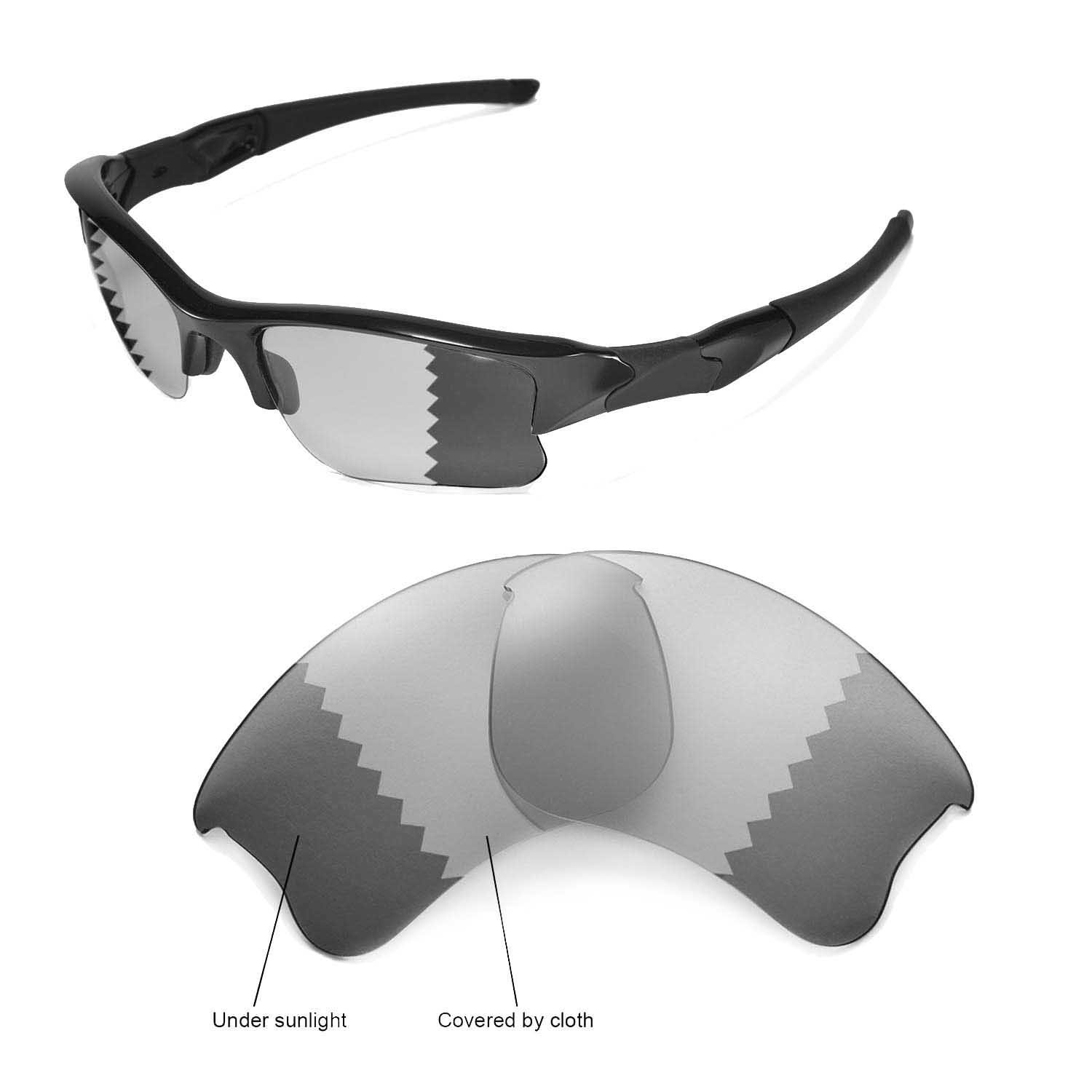 dba07d3dac6ed Walleva Replacement Lenses for Oakley Flak Jacket XLJ Sunglasses - Multiple  Options (Transition photochromic