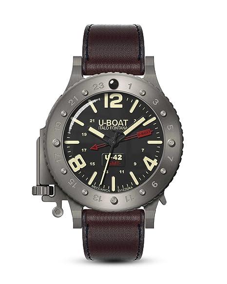 Reloj Automático U-Boat U-42, Titanio, 50mm, 3 atm, GMT, Edición Limitada, 8095: U-BOAT: Amazon.es: Relojes