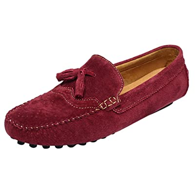 Abby 0073 Mens Stylish Casual Loafers Moccasins Multi-Functions Slip-on Driver Work Leather Slippers
