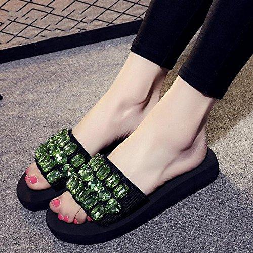 Per Femminili uk6 Donna 5 Eu39 Le Scarpe Donne Dimensioni 6 Sandali Con Haizhen cn39 Colori Beach Molti Estivi Pantofole colore Casual Shoes Da FXqOOR