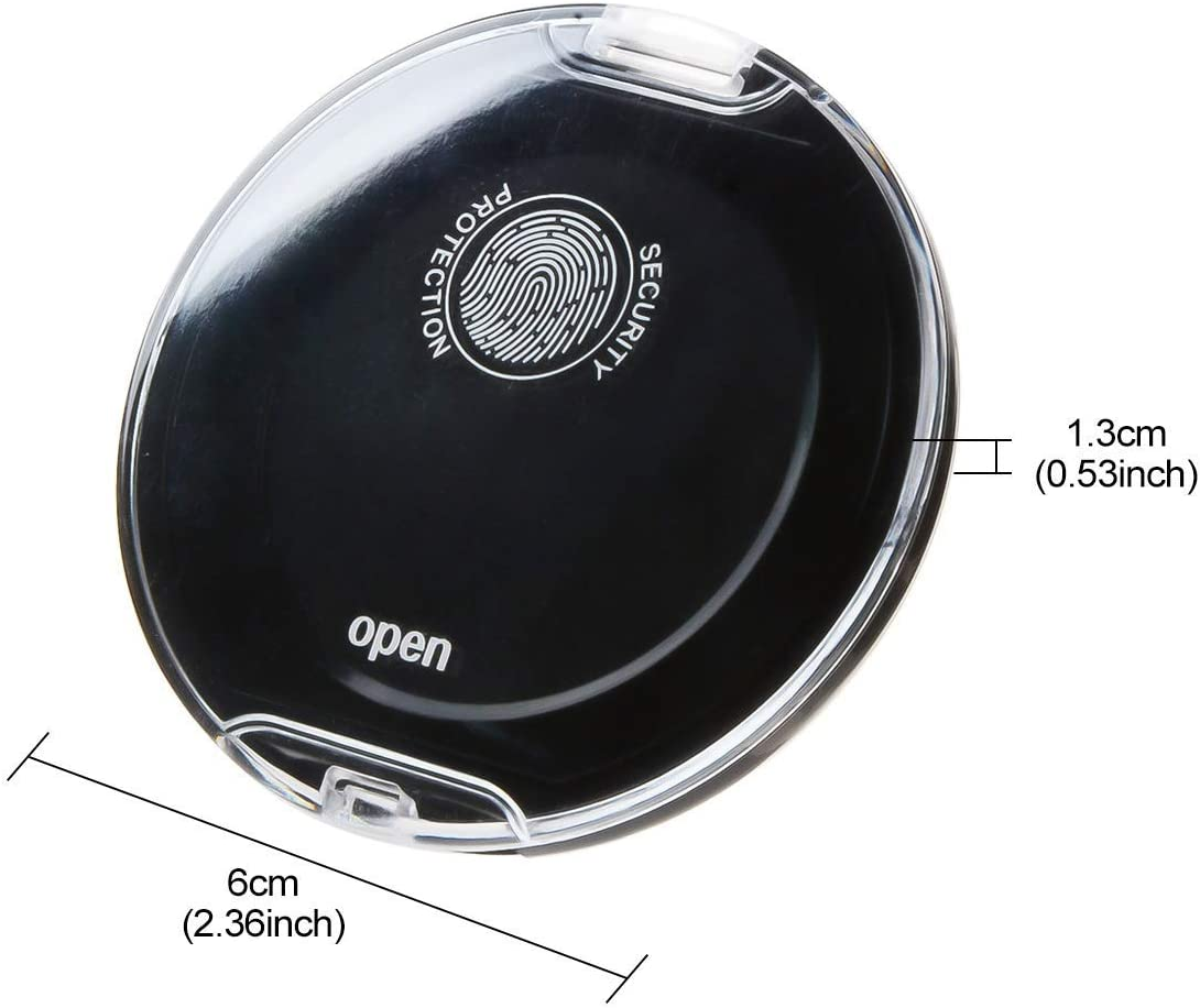 Uotyle Fingerprint Pad Fingerprint Pad schnelltrocknend radierbar Daumenabdruck Pad schwarz 3 St/ück