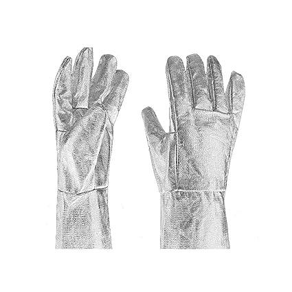 FOONEE Guantes Ignífugos de Papel de Aluminio, Guantes Aislantes Térmicos de Dedo Completo para Estufa