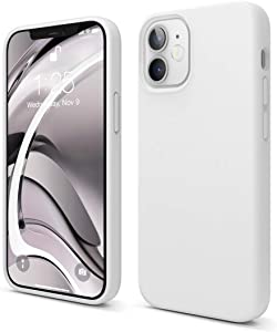 elago Liquid Silicone Case Compatible with iPhone 12 Mini 5.4 Inch Case (White) - Full Body Protection (Screen & Camera Protection)