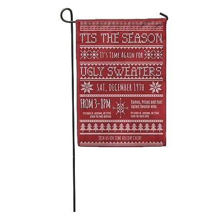 Amazon.com  Semtomn Garden Flag Red Pattern Ugly Christmas