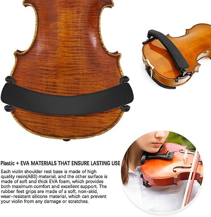 MUPOO Violin Shoulder Rest for 1//8-1//4 Size Violin Universal Type Violin Parts Soft