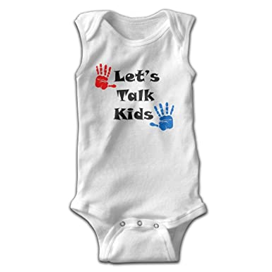 9116a5e2f Toys Go Climbing Cotton Onesies Let's Talk Kid Hands Kids Boy Girl  Sleeveless Romper Harem Pants