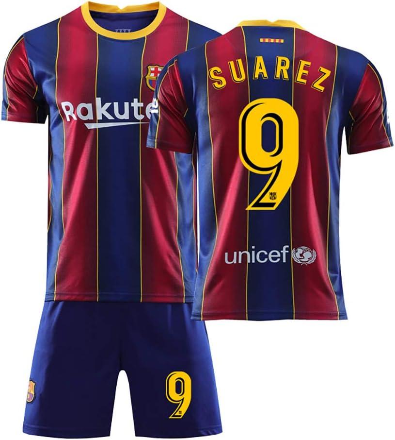 NOBRAND N /° 10 Camiseta de f/útbol para Adultos de f/útbol Local de Messi Barcelona Camiseta para Padres e Hijos Camiseta de Messi con Camiseta de Juego de Club Digital