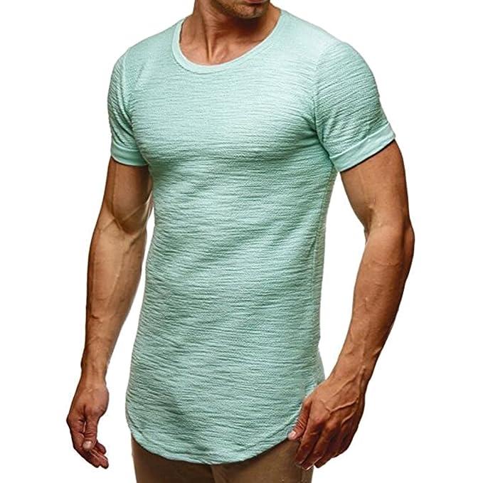 Manga Fit Slim De Muscle Verano Camiseta Corta ZTOkwPuXi