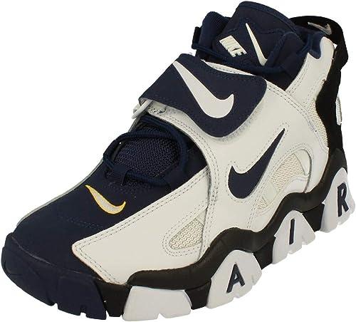 Nike Scarpe da Uomo Sneaker Air Barrage in Pelle Blu AT7847