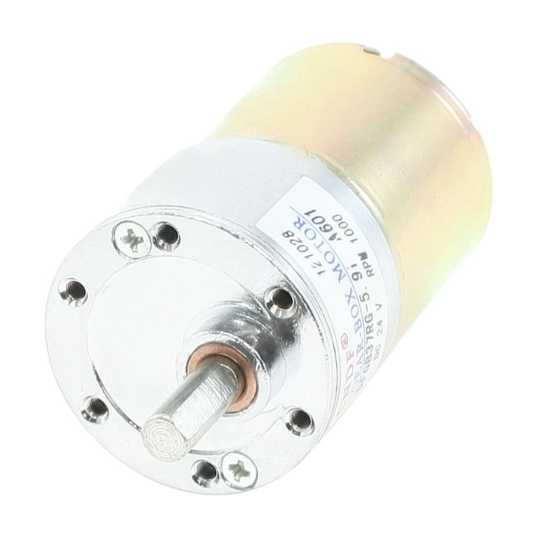 uxcell DC 24V 1000RPM 6mmx15mm Shaft 37mm Body Dia Magnetic Gearbox Motor