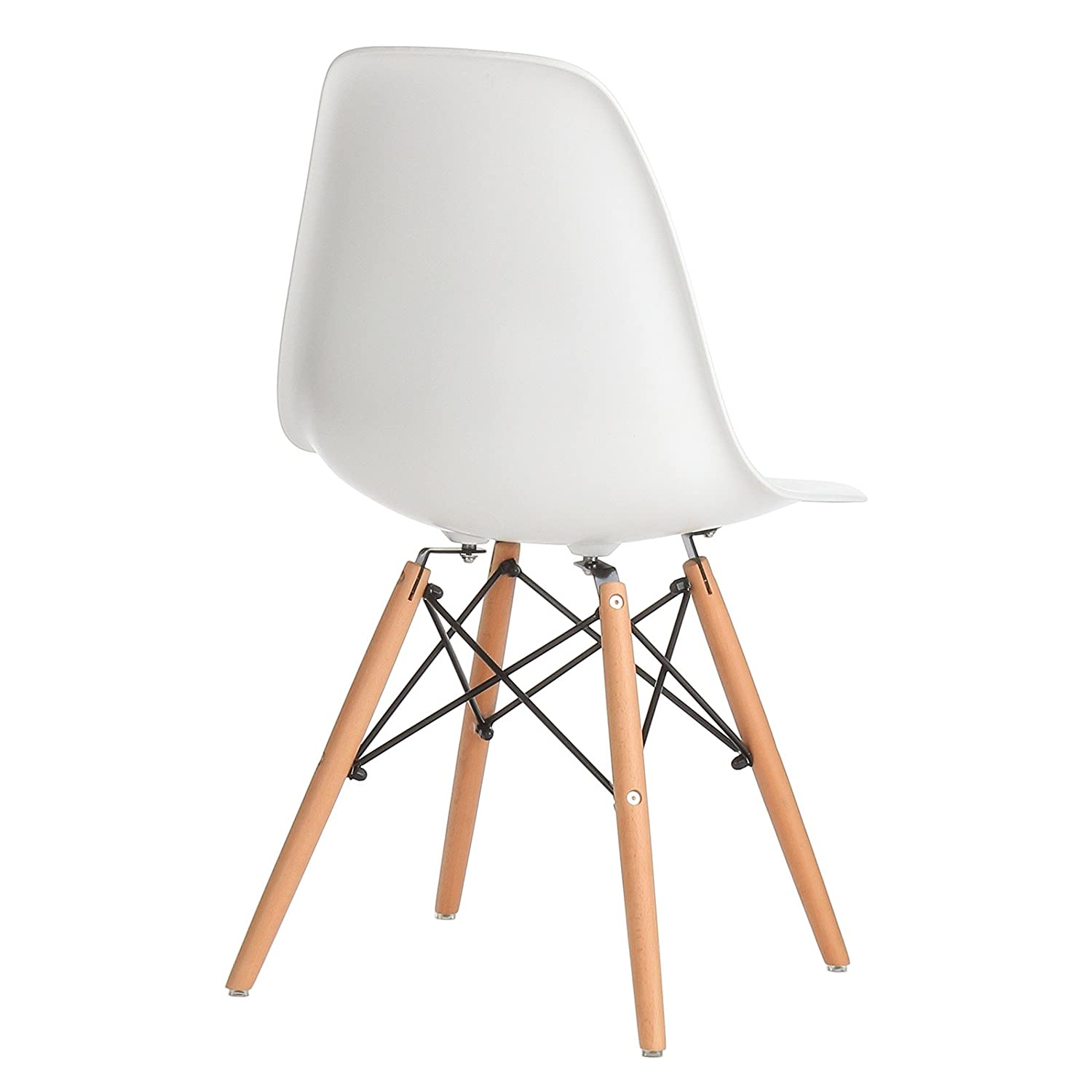 Amazon. Com: design tree home fhf-eams-wht eames side chair, large.