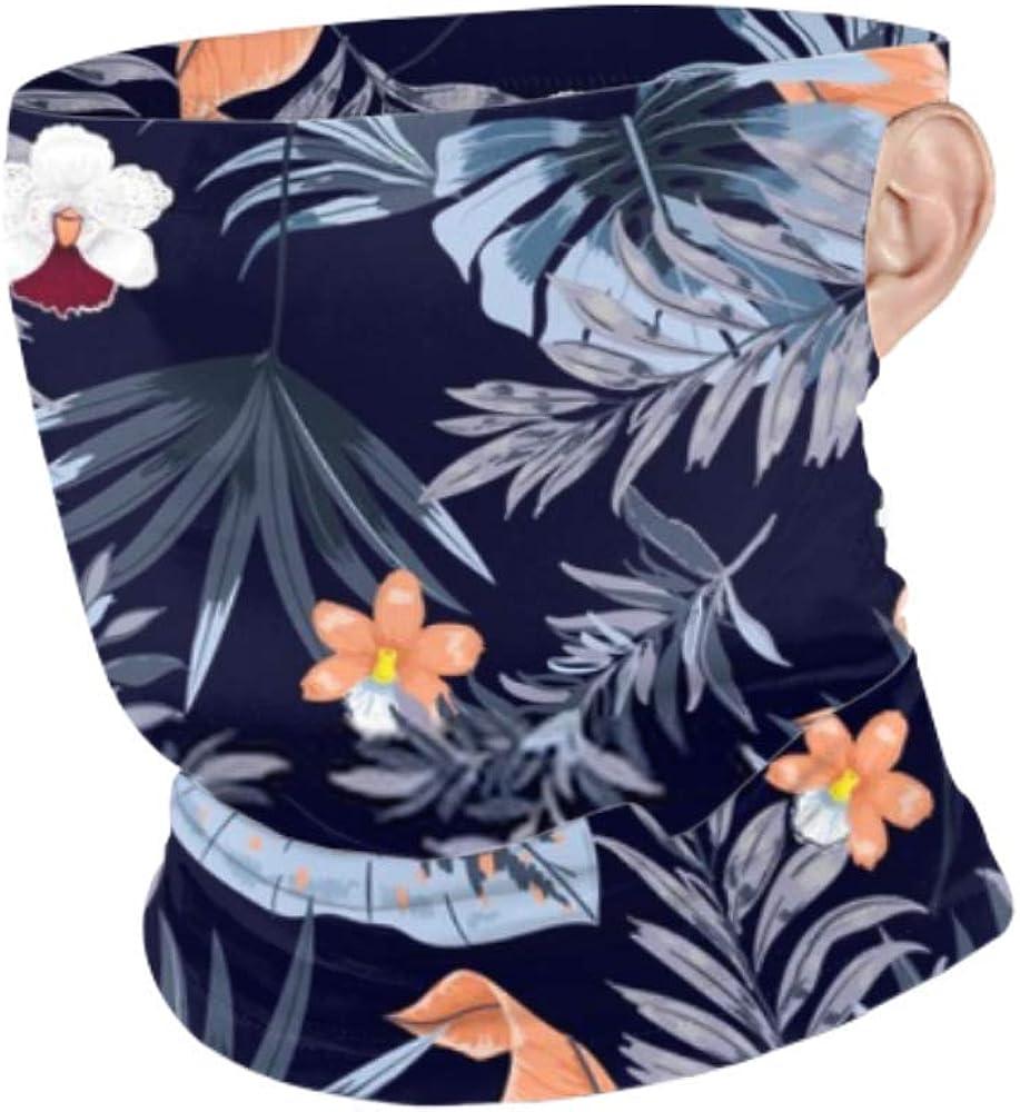 CDMT-XU1 Bufanda de mascarilla a prueba de viento Hombres Mujeres Hawai imprimir vector transparente hermosa Artística Cuello polaina Colgando Oreja Mascarilla Protección
