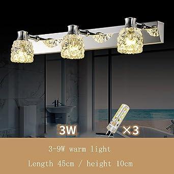 Spiegellampen- Badezimmer Kristall-Spiegel-Frontleuchten Einfache ...