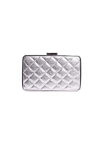 7489b77397b6 Michael Michael Kors Elsie Quilted Box Clutch Silver: Handbags: Amazon.com