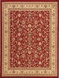 A2Z Rug 10-Feet-by-13-Feet Covent Garden Persian Traditional Design Rug, Red and Cream