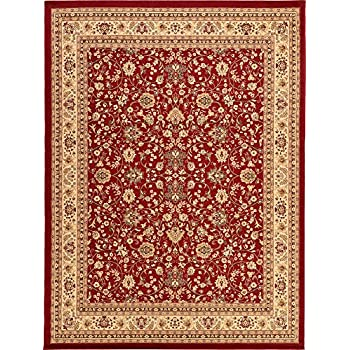 A2Z Rug 10 Feet By 13 Covent Garden Persian Traditional Design Red And Cream