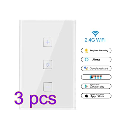 WiFi Light Switch, FORNORM Smart Dimmer Switch, Smartphone ... on