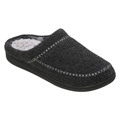 Dearfoams Women's Felt X-Stitch Clog Memory Foam Slipper | Slippers