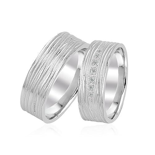 Alianzas, anillos de compromiso Gioro Alice, anillos para boda, de plata de ley