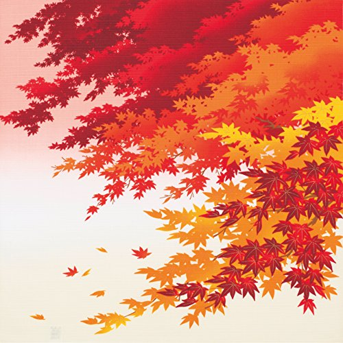 Furoshiki Wrapping Cloth Maple Leaves in Autumn Motif Japanese Fabric ()