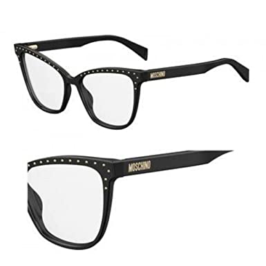 b929bf7a62f Eyeglasses Moschino Mos 505 0807 Black at Amazon Men's Clothing store: