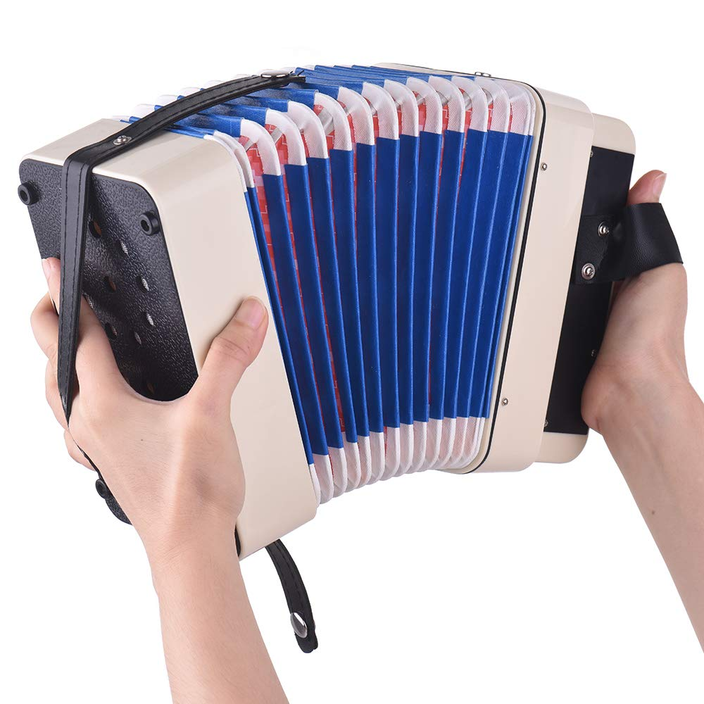 Kalaok Mini 10-Button Kids Accordion Toy Supports Bass Chords 14 Notes with Cleaning Cloth Educational Music Instrument for Children by Kalaok (Image #6)