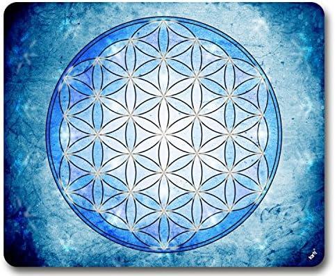60 x 40 cm L/Élement Terre La Fleur De Vie 1art1/® Mandalas Paillasson Essuie-Pieds