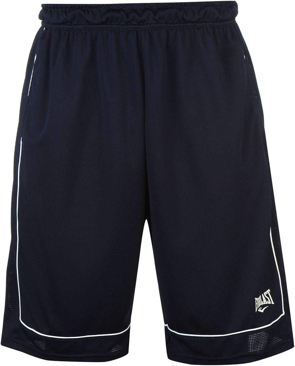 Everlast - Pantalones cortos de baloncesto para hombre, sueltos, ropa deportiva