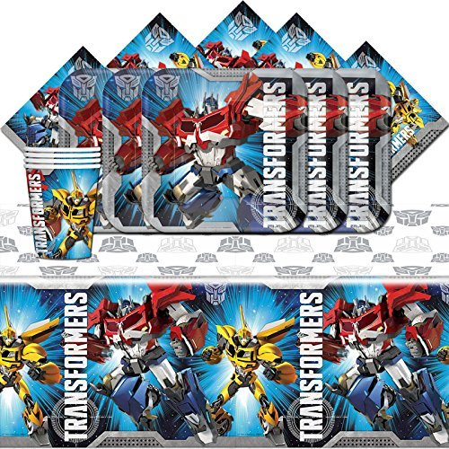 Transformers Optimus Prime Bumble Bee Birthday Party Tableware Pack For 16 - Optimus Prime Bumble Bee