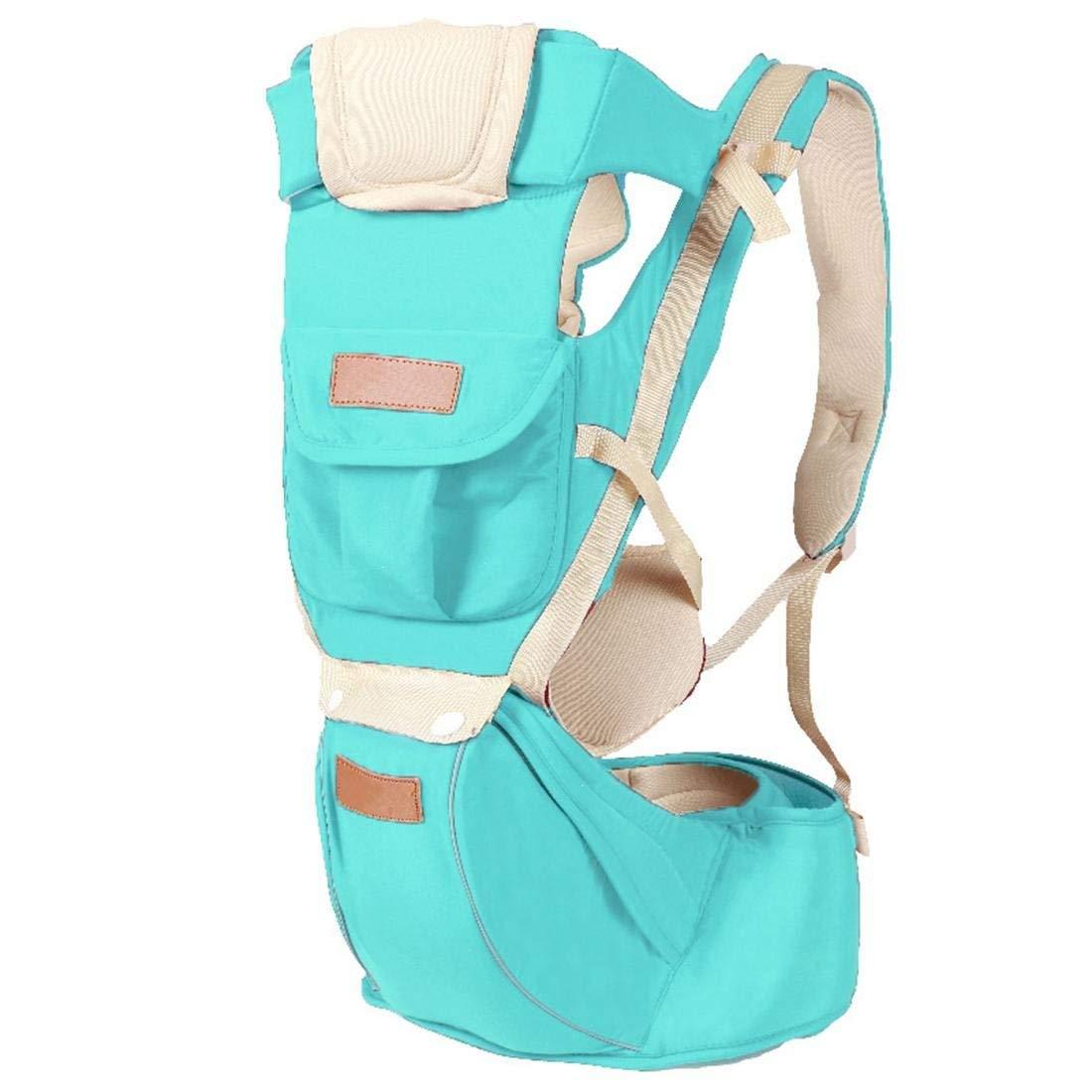 Babytrage Babytrage Größe Hocker Atmungsaktive Größe Hocker Rucksack Multifunktionale Sicherheit von Kinder Baby Produkte Rückenträger (Farbe   Blau)