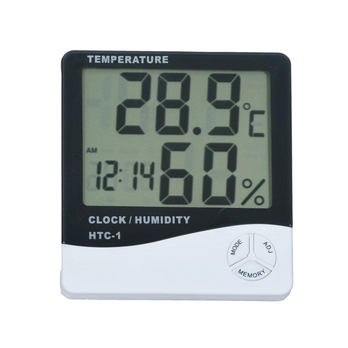 Smarstar LCD Digital Temp/érature M/ètre dhumidit/é Horloge Thermom/ètre Hygrom/ètre 0C /à 50C