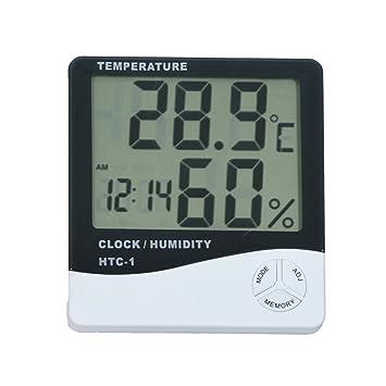 Smarstar - Termómetro digital LCD (temperatura y humedad): Amazon.es: Hogar