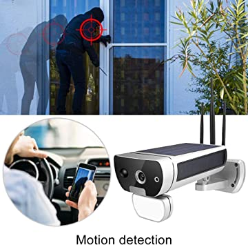 1080P HD Solar Power WiFi Red Cámara de Seguridad a Prueba de Agua ...