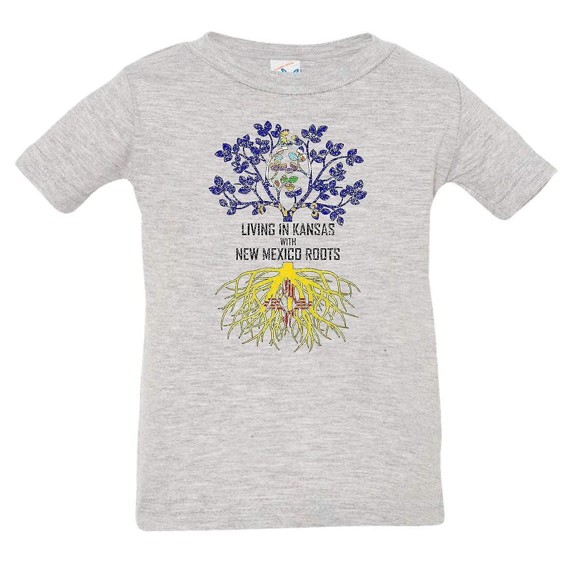 Tenacitee Babys Living in Kansas Mexico Roots Shirt
