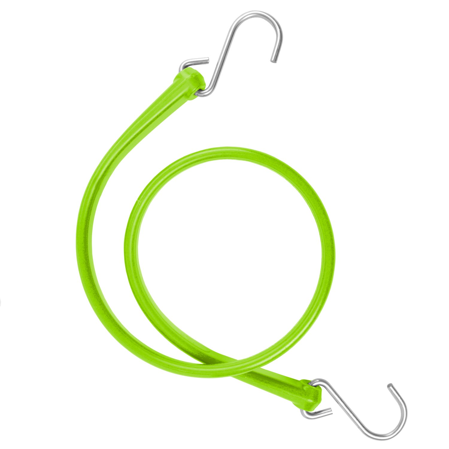 The Perfect Bungee by BihlerFlex B36G Heavy Duty Strap with Galvanized Hook, 36'', Safety Green