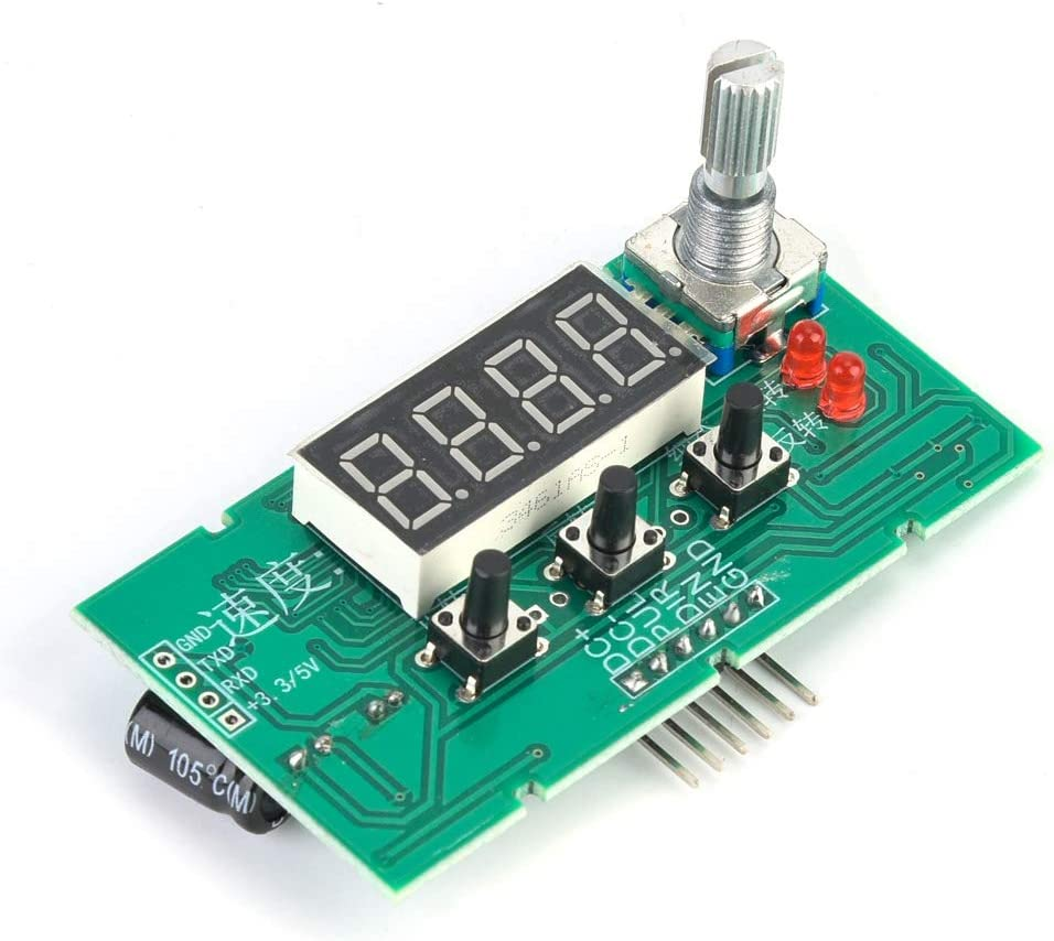 Stepper Motor Speed Controller Governor Driver Control Module DC8-24V Speed Control Board with Digital Display Electrical Motor Controls