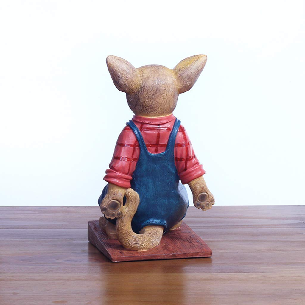 ZPWSNH Chihuahua Door Stop Door Resistance Anti-Collision Free Punching Floor Decoration Creative Cartoon Resin Crafts Book File Book by 14x22cm Bookshelf by ZPWSNH (Image #4)