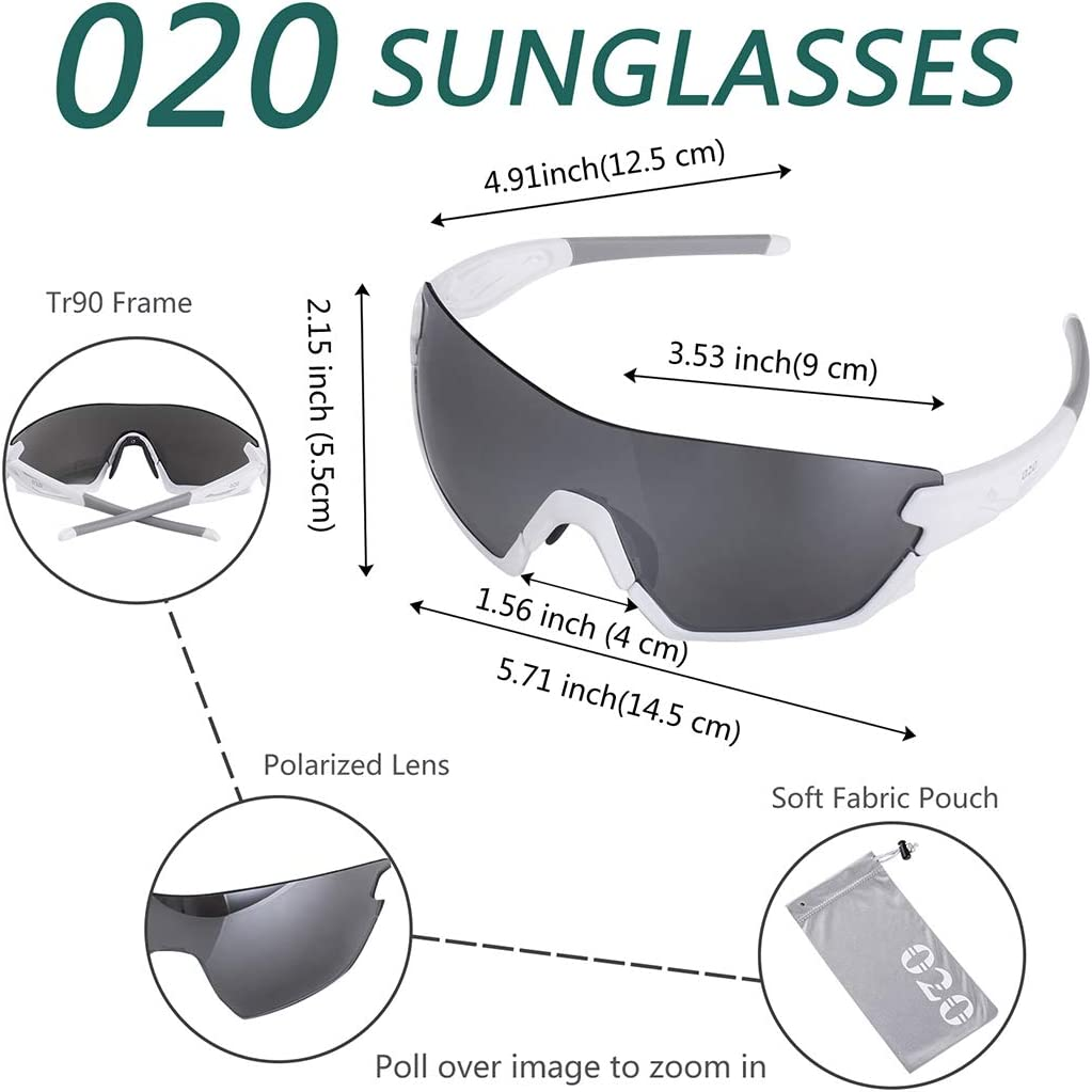 O2O Polarized Sports Sunglasses for Women Men Teens Biking Running Cycling Sunglasses